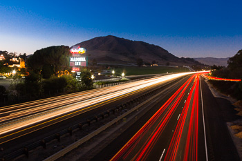 Dusk Photogrpahy Level 1 - Learn how to get light trails to go right through your shot