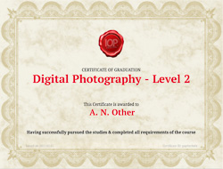 Certificate at the end of the course
